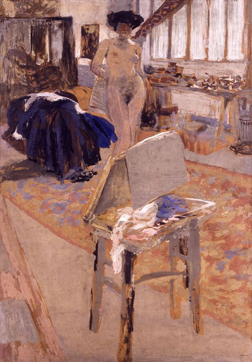 Intercepted by Gravitation — Studio with Model, Edouard Vuillard