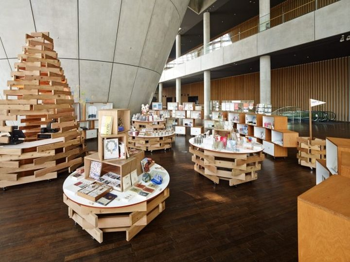 Museum shop at National Art Center by Torafu Architects Tokyo Japan