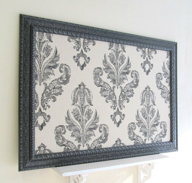 I did this with similar material and am selling for $45.00....guess I should up my price?!    LARGE Magnet Board Bulletin Board Wedding Decor Black Damask Linen Office Kitchen Vintage Ornate Framed Memo Board French Country Decor. $189.00, via Etsy.
