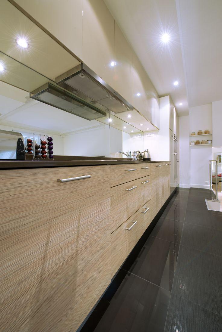 Cuisine Rive Droite par Arthur Bonnet, Coloris Muscade http://www.arthur-bonnet.com/cuisines/rive-droite-jeu-de-volumes/