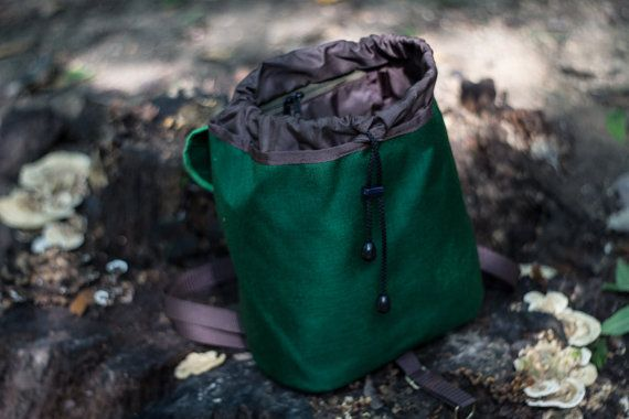 Dark Green Leaf Mini Backpack Women's Rucksack by LeaflingBags