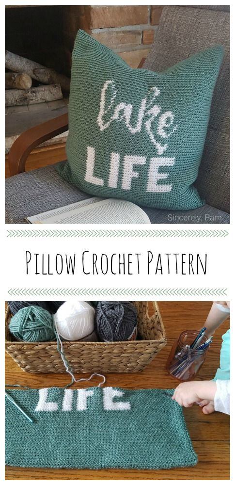 Lake Life Pillow Pattern By Sincerely Pam Crochet Ideas