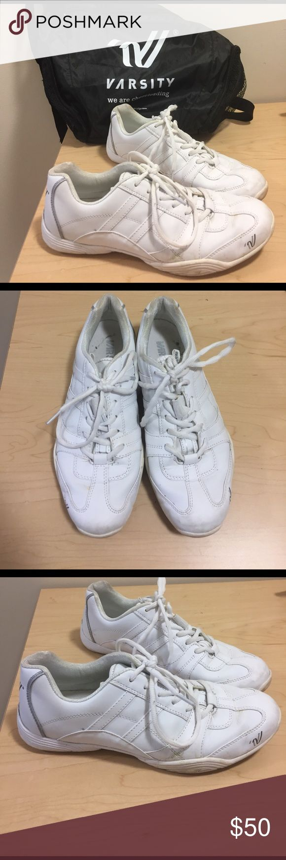 Varsity cheerleading sneakers Cheerleading sneakers, hardly ever worn! Comes with protective varsity bag Shoes Sneakers