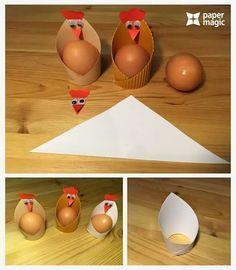 Osterbecher Henne aus Papier