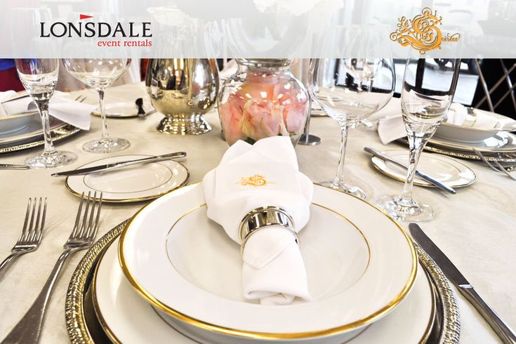 Like what you see on this table set-up? Visit www.lonsdaleevents.com to replicate. Not sure what's what? Check out the rest of the Le Soirees board for a list! pinterest.com/lonsdalerentals/le-soirees-at-lonsdale-rentals/