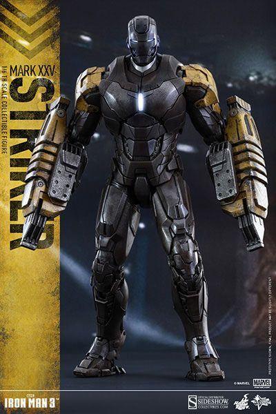 Figura Mark XXV Striker 30 cm. Iron Man 3. Línea Movie Masterpiece. Con luz. Escala 1:6. Hot Toys Esperada figura de la armadura Mark XXV Striker de 30 cm de la línea Movie Masterpiece a escala 1:6 y 100% oficial y licenciada. Estamos seguros de que te encantará si eres fan de Iron Man. ideal como regalo.