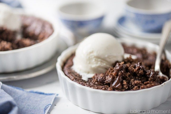 Brownie Pudding Cake - Baking A Moment