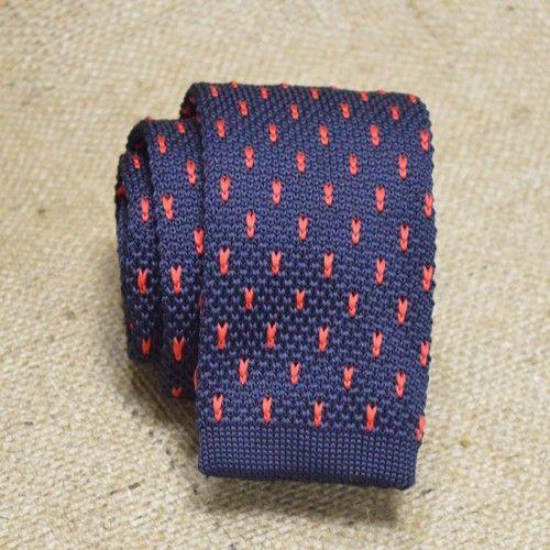 Галстук трикотажный синий с красным - завораживающей - купить в Киеве и Украине по недорогой цене, интернет-магазин