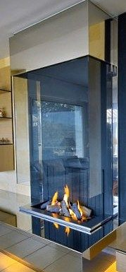 I would love to have a free standing fireplace.