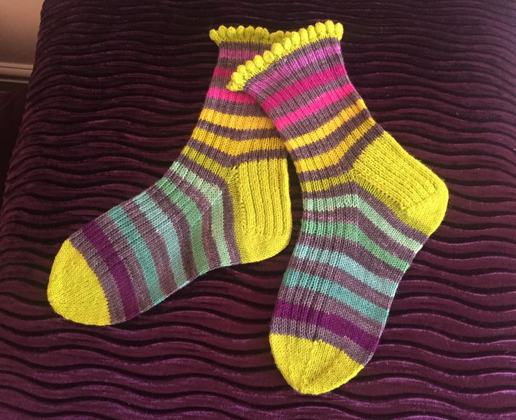 Homemade socks. Yarn by Fab Funky Fibres via Etsy.