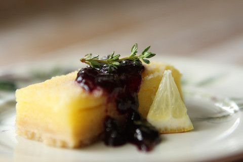 Blueberry Lemon + Thyme Lemon Squares #jamgood
