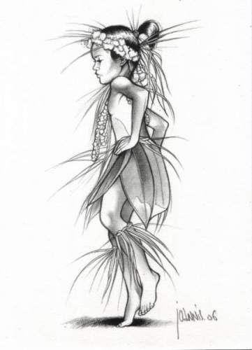 Tahitian dancing boy