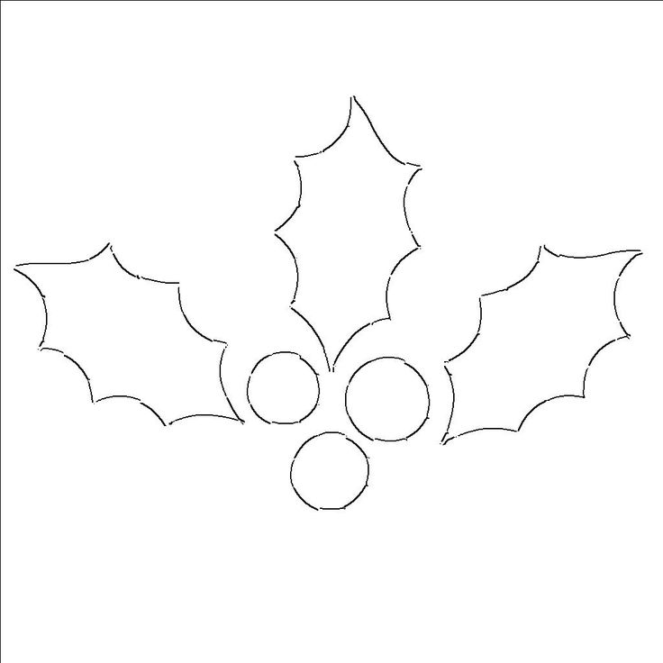 holly leaf templates free printable patterns to cut out projects