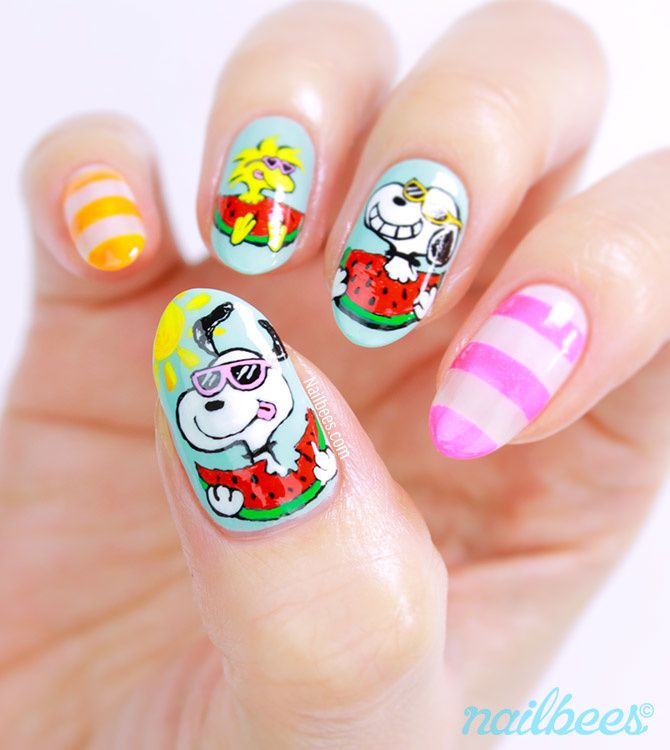 Guest Post: Snoopy Nail Art from Minnie aka Nailbees - Lucy's Stash
