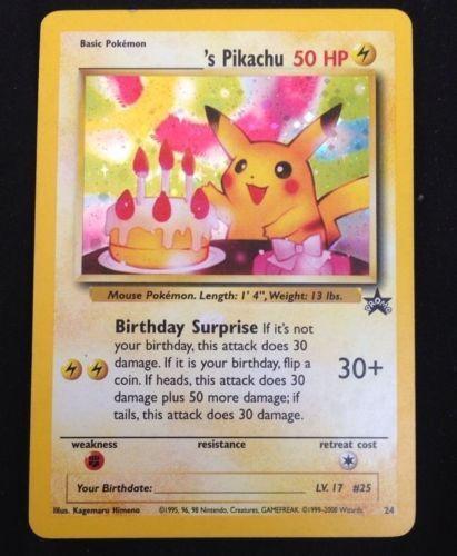 Happy Birthday Pikachu Pokemon Card Holo RARE | eBay