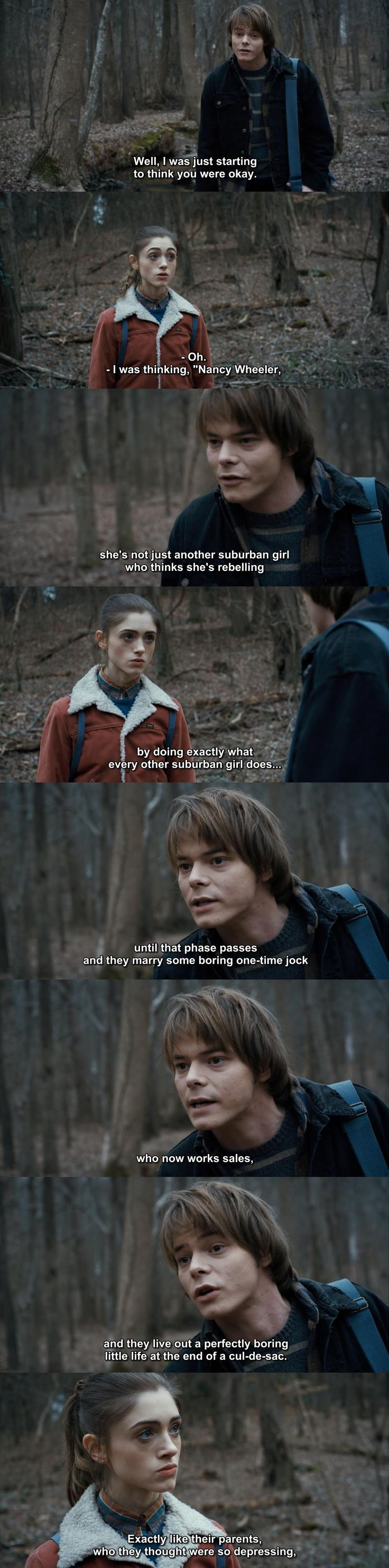 Stranger Things - Jonathan Byers and Nancy Wheeler. BURN.