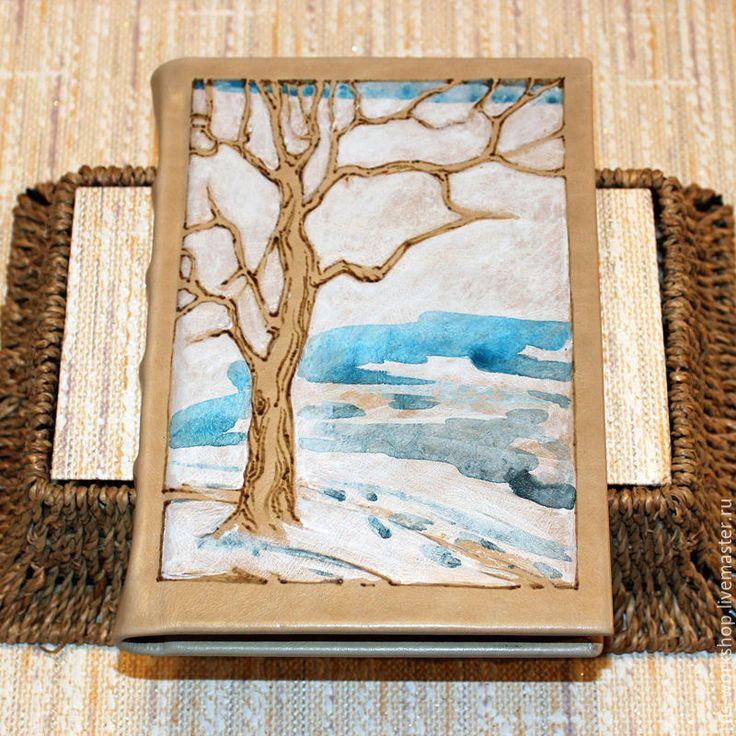 Купить Ежедневник ручной работы Зима - комбинированный, ежедневник, ежедневник ручной работы, ежедневник в подарок