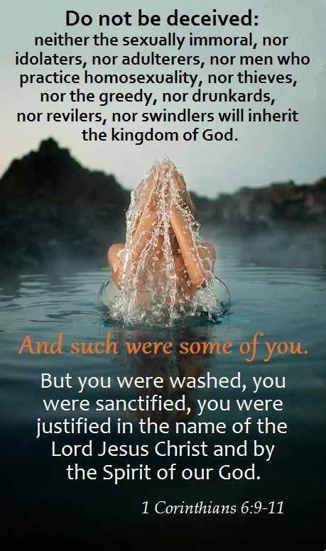 1 Corinthians 6:9-11 | T R U T H - NO. 16 | 1 corinthians ...