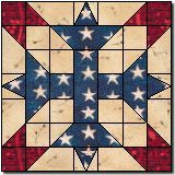 Our Country....never seen this block... reminds me of the Confederate Flag!  Love it!