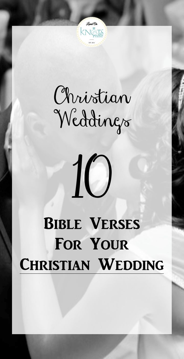 Wedding Bible Verses 10 For The