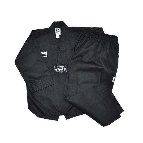 TKD TaeKwonDo uniforms uniform Moospo MASTER DOBOK BLACK+BLACK BELT Kukkiwon #KZZANG