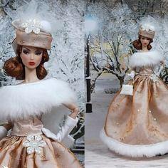 """Robe """" ambre """" vêtement pour poupée barbie f3788"""