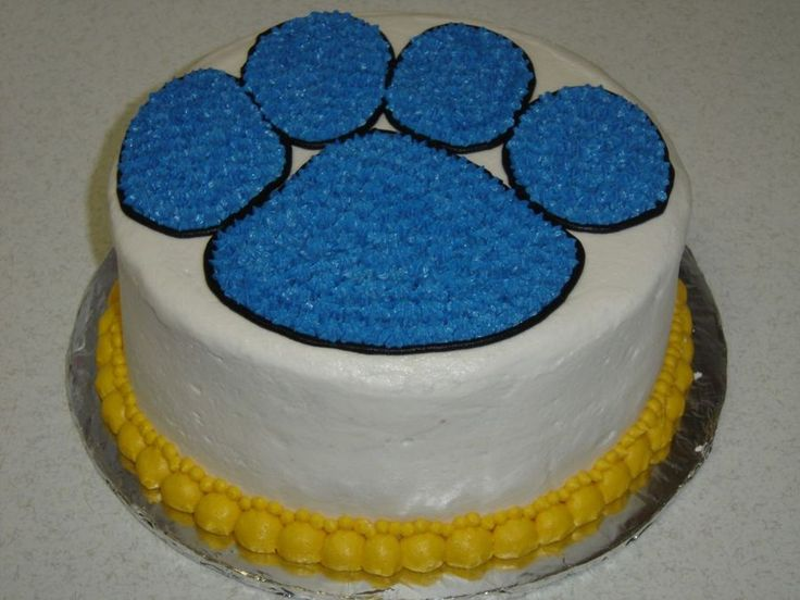 Bobcats / Wildcats School Mascot Paw Print Cake on Cake Central
