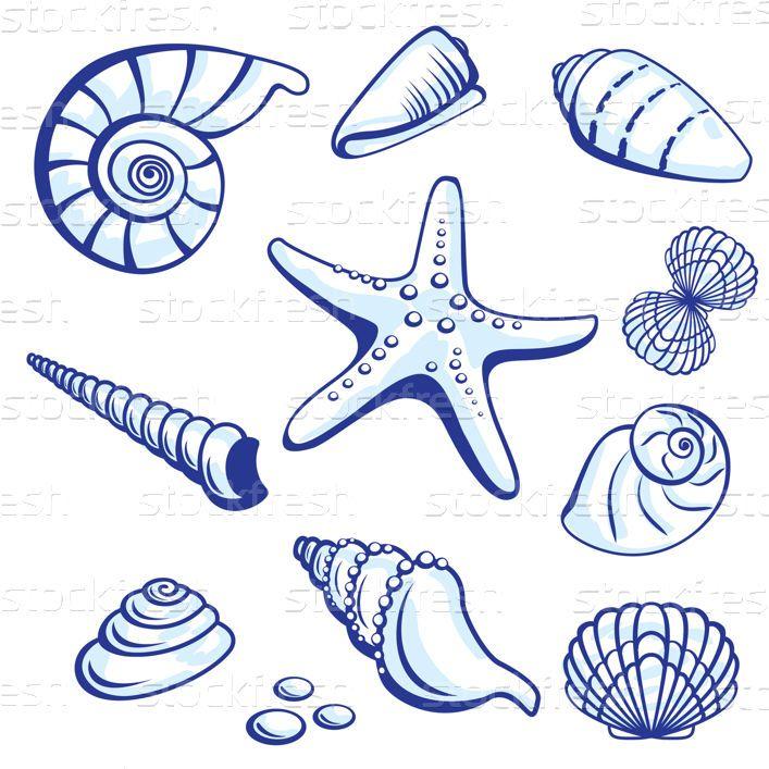 Mar · vetor · branco · fundo · praia · peixe - ilustração de vetor © dvarg (#672070) | Stockfresh