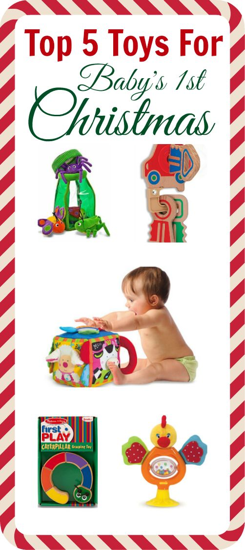{Baby's 1st Christmas} Top 5 toys from Allie of No Time for Flashcards...