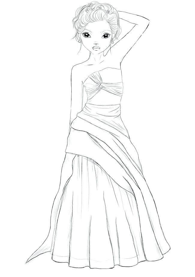 Mode Top Model Coloriage Fille.Coloriage De Top Model Topmodel Coloriage Dessin Top