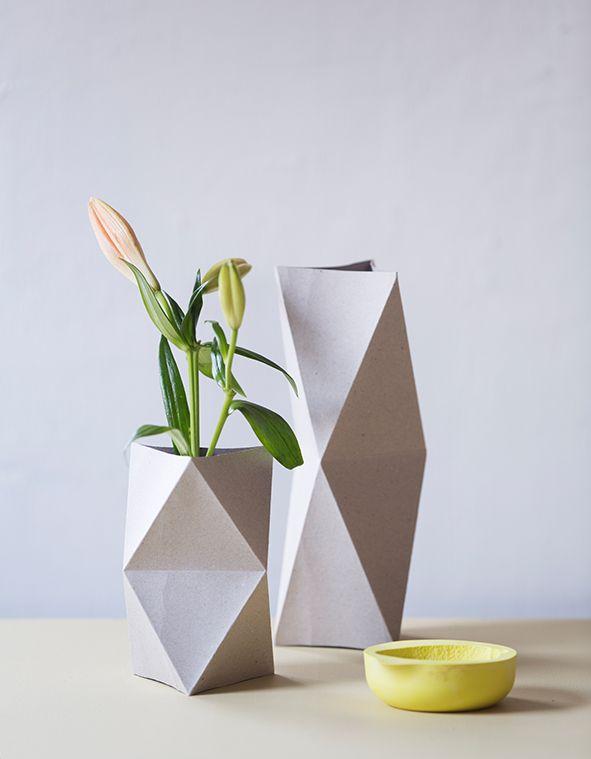 DIY vaser, stylist Silje Aune Eriksen, fotograf anne bråtveit