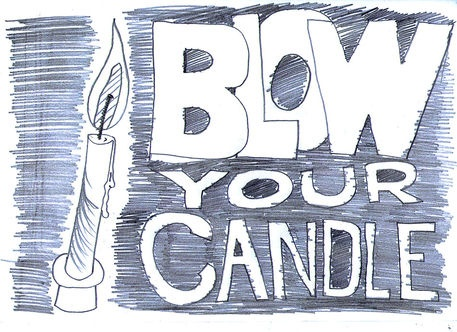 'Blow Your Candle' by Petros Vasiadis on artflakes.com as poster or art print $16.63