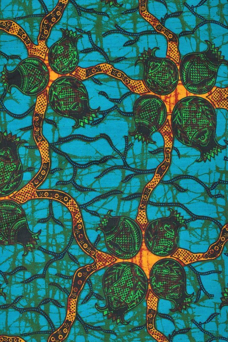 Tendrils African Print Fabric