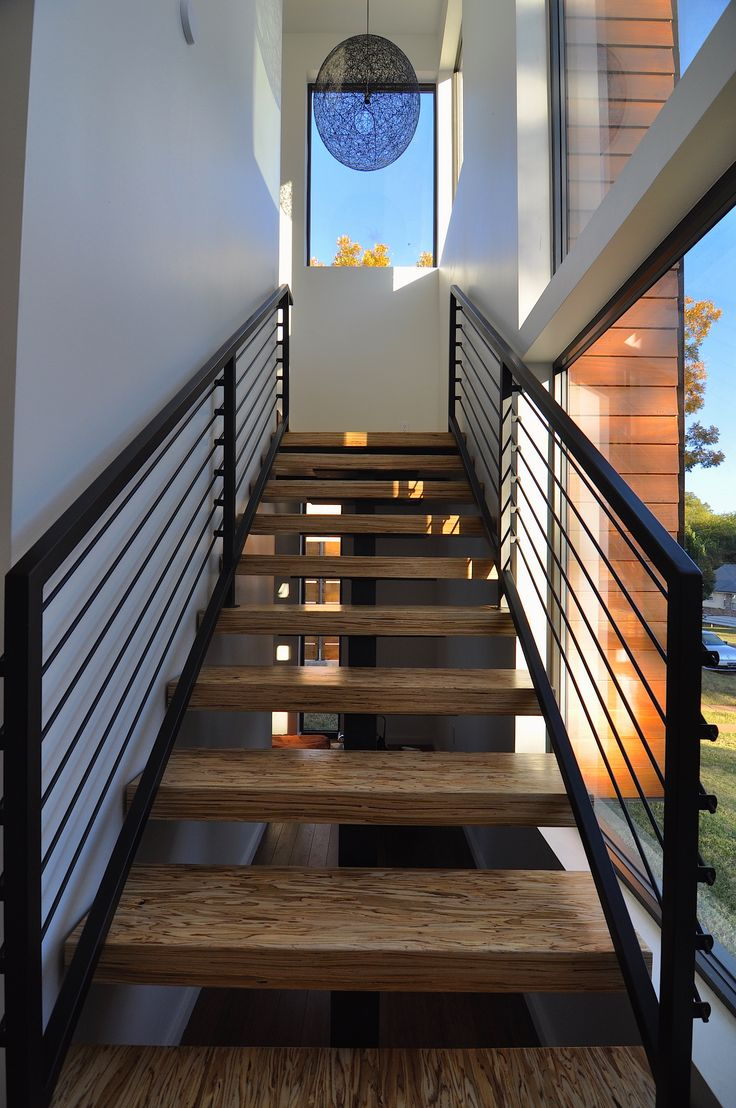 Lighting Basement Washroom Stairs: Feature Staircase Of Meadowbrook Modern Home For Sale In