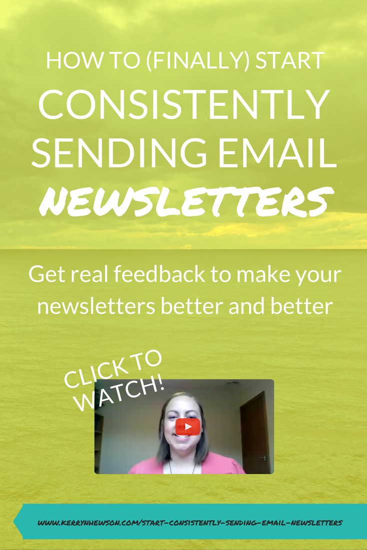 Watch to learn how to (finally!) start consistently sending email newsletters and use real feedback to make them better and better
