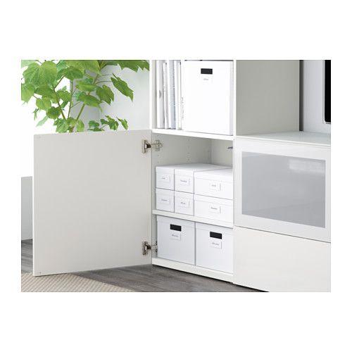 TJENA Scatola con coperchio - bianco - IKEA - vedere misure x magliette peppe armadio