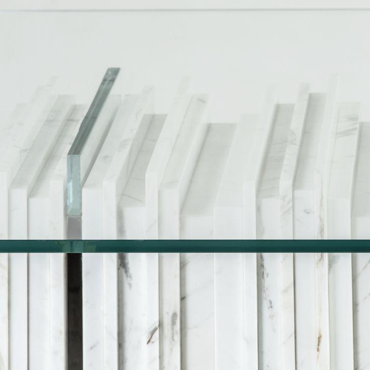 BRAHMAN'S HOME FIVE ELEMENTS -  WATER: GLASS taken from SEXTO table  #BrahmansHome #BrahmansFiveElements #Brahmans #Design #Interiordesign #crafts #luxury #details #stone #glass #marble #carrara #inspirations #homeinspirations
