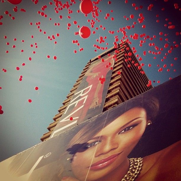 The unveiling of our billboard in Johannesburg.