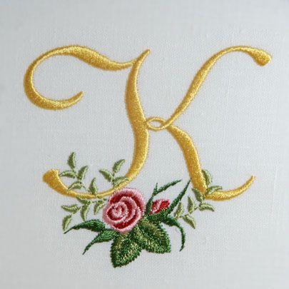 Heirloom Roses Alphabet- K