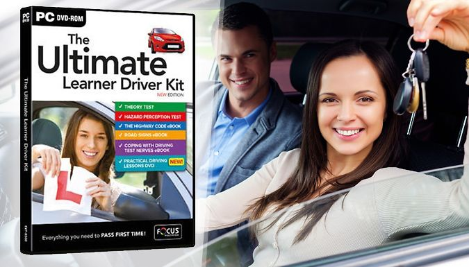 Buy The Ultimate Learner Driver Kit for just £7.99 The Ultimate Learner Driver Kit teaches essential road skills      Get the theory down with The Complete Theory Test PC DVD-ROM      Master the practical side with Driving Test Success Practical Driving Lessons DVD      Ebooks on The Highway Code and Teaching You Road Signs for more theory learning      Calm your nerves with the Coping with...