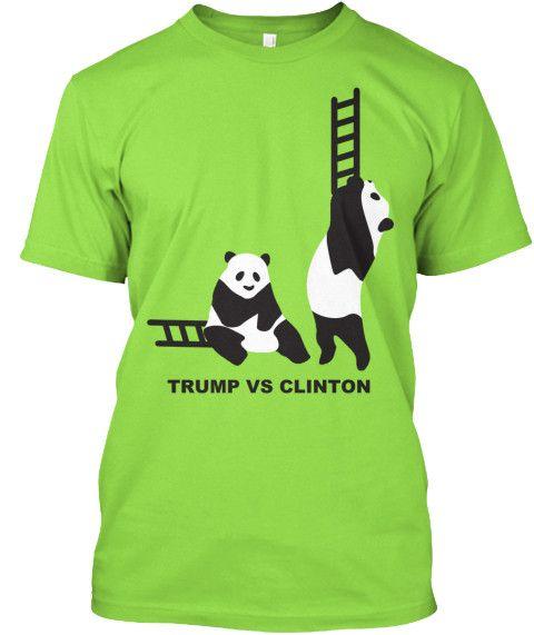 Trump Vs Clinton Panda Ladders T-Shirt