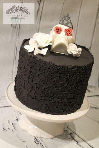 Sugar skull cake, Halloween cake, sugar flowers,