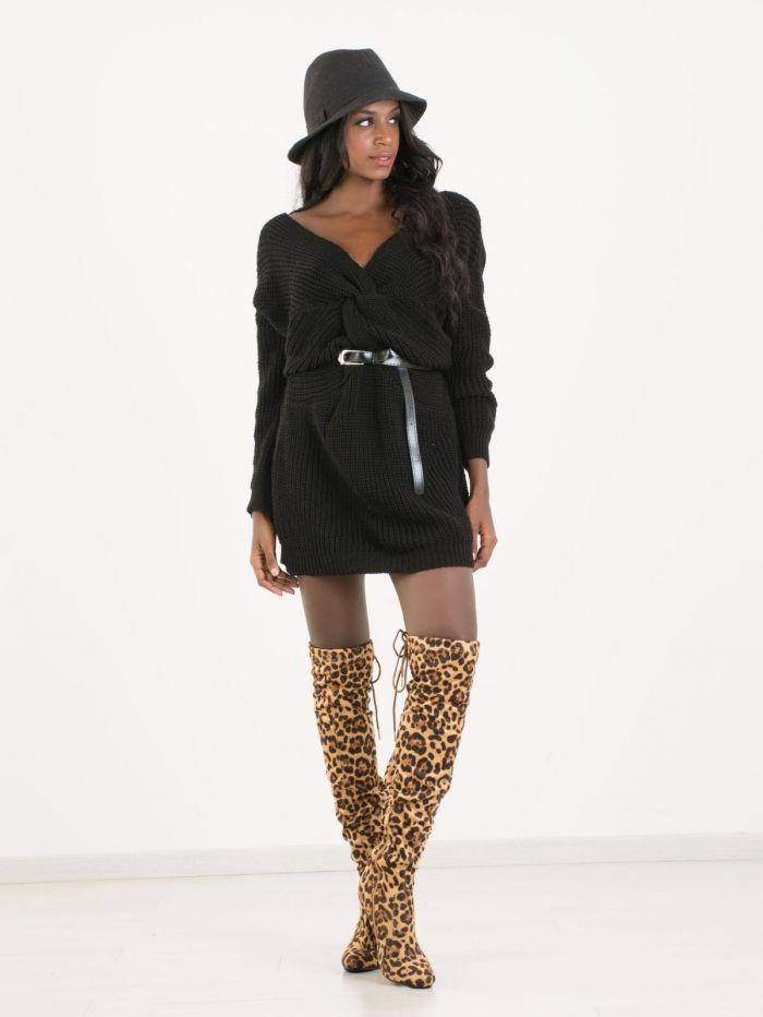 cd1d8befaec8 T8020 Μπλουζοφόρεμα Πλεκτό - Decoro - Γυναικεία ρούχα