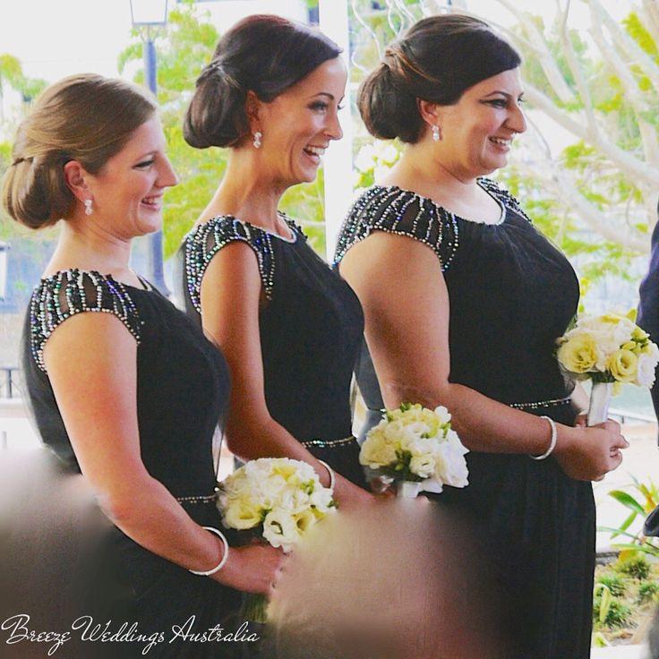 Black bridesmaid's dresses with crystal beads on the waist line and shoulders. #breezeweddings #blackbridesmaiddresses #blackdresses #bridesmaids #weddingcolors #weddingcolours #ideas #weddingideas #черныеплатья #подружкиневесты #платьядляподружекневесты #идеи #черныйцвет #на #свадьбе #любимаяработа #свадебныйстилист #lovemyjob