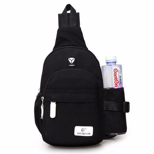 Women Nylon Large Capacity Daily Crossbody Bag Waterproof Durable Chest Bag Shoulder Bag