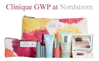 Clinique GWP promotion at Nordstrom. Qualifier is only $27. http://clinique-bonus.com/nordstrom/