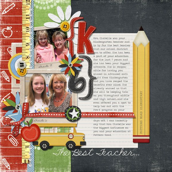 Cute back to school layout.