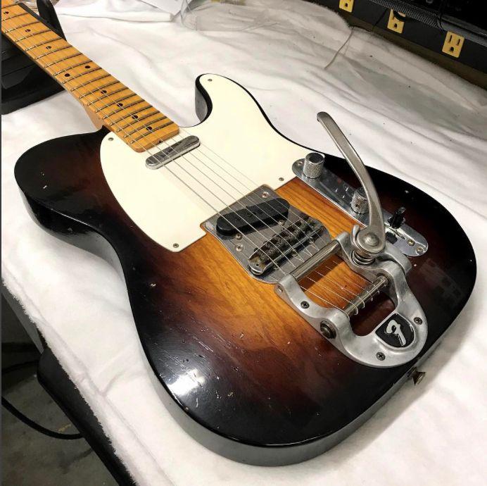 Soaking up this Sunburst Twisted Tele from the Fender Custom Shop.  #SunburstSunday #SundayFunday