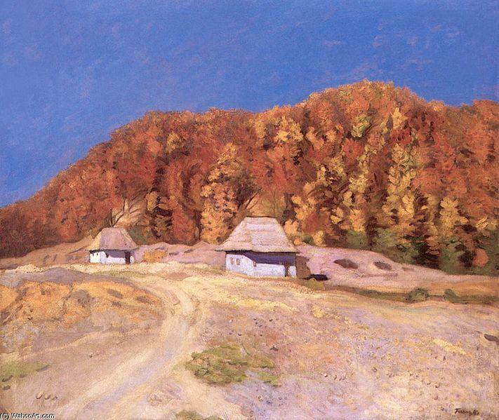 Forêt de bouleaux de Karoly Ferenczy (1862-1917, Hungary)