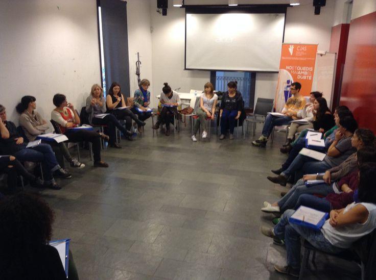 Discussió de grup en el curs
